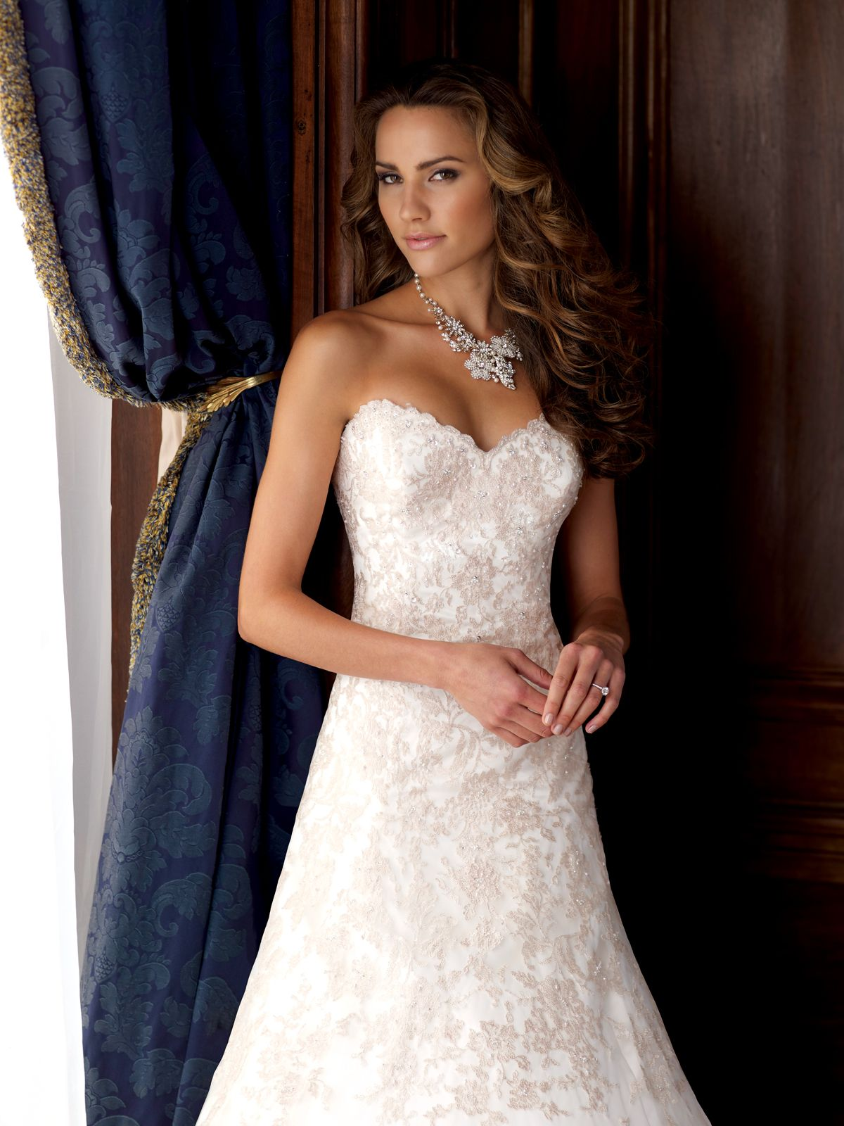 David Tutera Style 115240 David Tutera 2015 Collection Embroidered Lace And Tulle Over Lux David Tutera Wedding Dresses Wedding Dresses 2015 Wedding Dresses