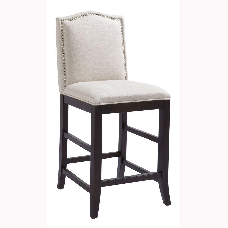 Phenomenal Maison Counter Stool Fabric Linen Look Outdoor Patio Theyellowbook Wood Chair Design Ideas Theyellowbookinfo
