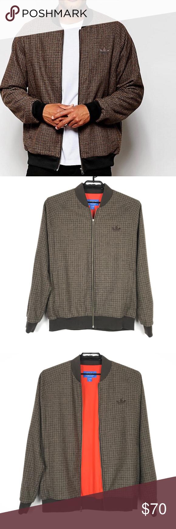 Adidas Originals Tweed Bomber Jacket Sz Lg Brown Clothes Design Adidas Originals Jacket Fashion [ 1740 x 580 Pixel ]