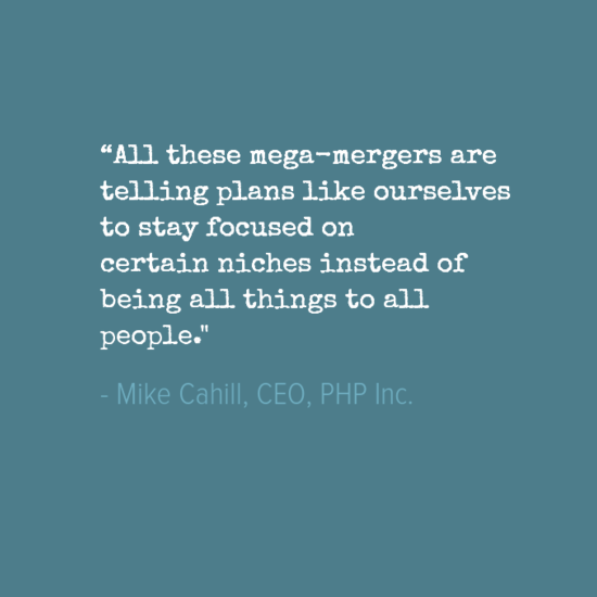 PHP Inc. plans to avoid getting caught in large health ...