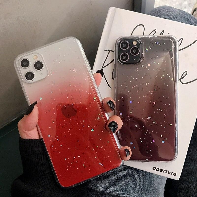 Gradient Color Glitter iPhone Case (With images) Glitter