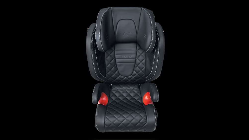 Kahn Design Recaro Young Sport Child Seat In Quilted Nappa Leather.