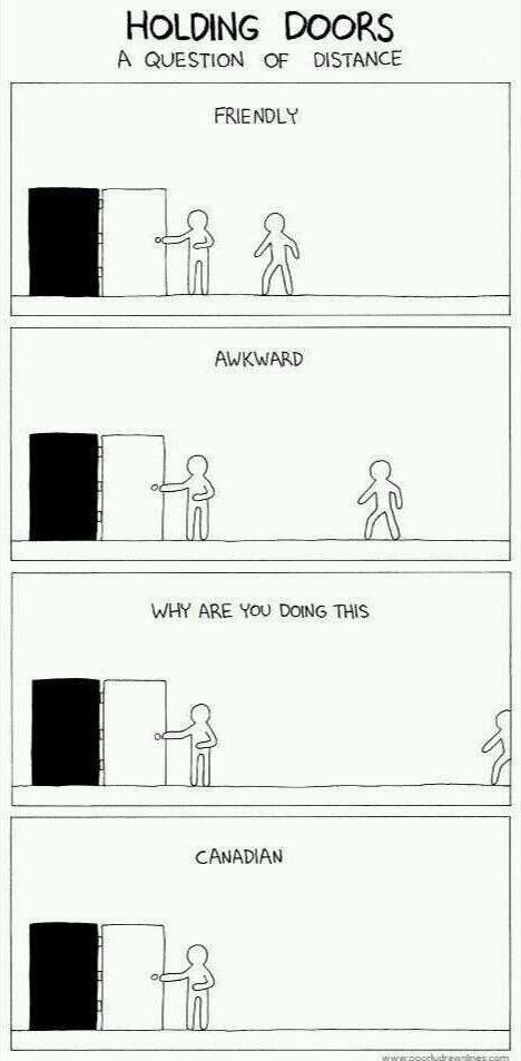 Image result for Canadian holding door meme
