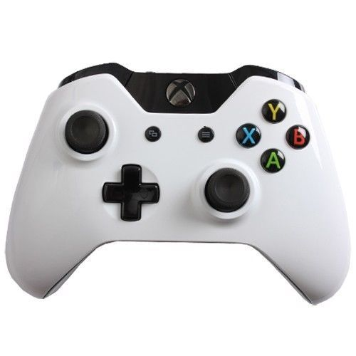 Custom Xbox One Controller with Glossy White Shell Brand New