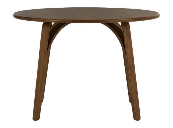 Safia Round Dining Table, Walnut £350 D110cm H75cm