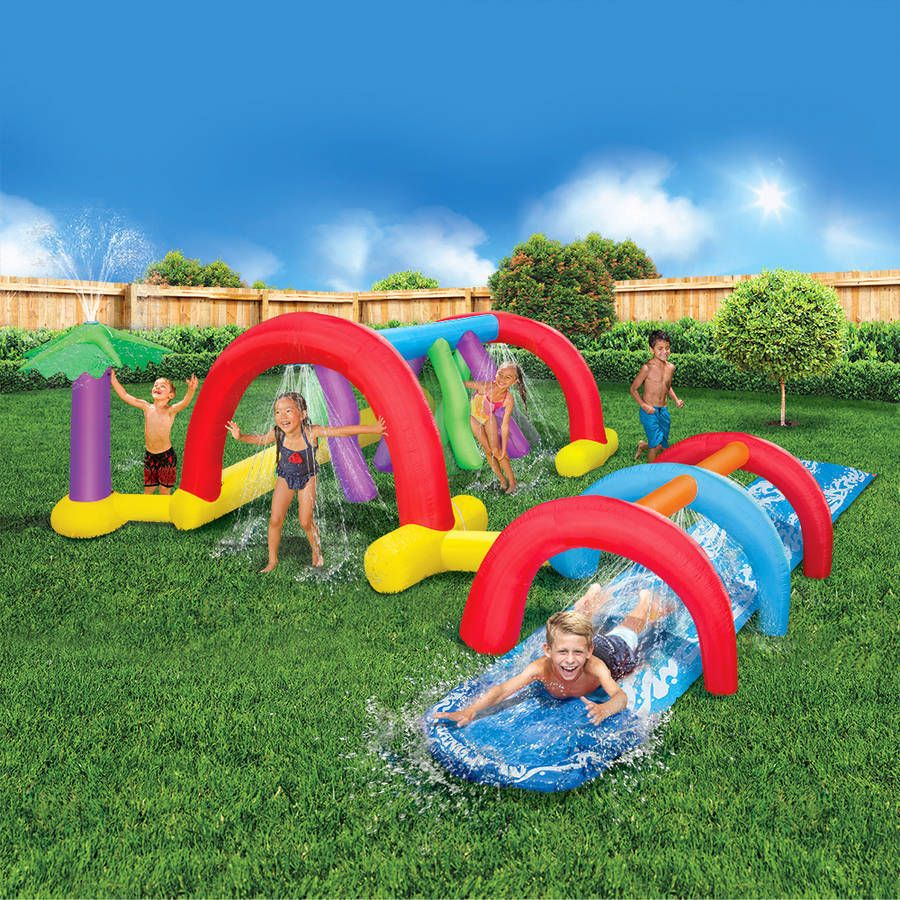 water park inflatable games backyard slides toys outdoor play