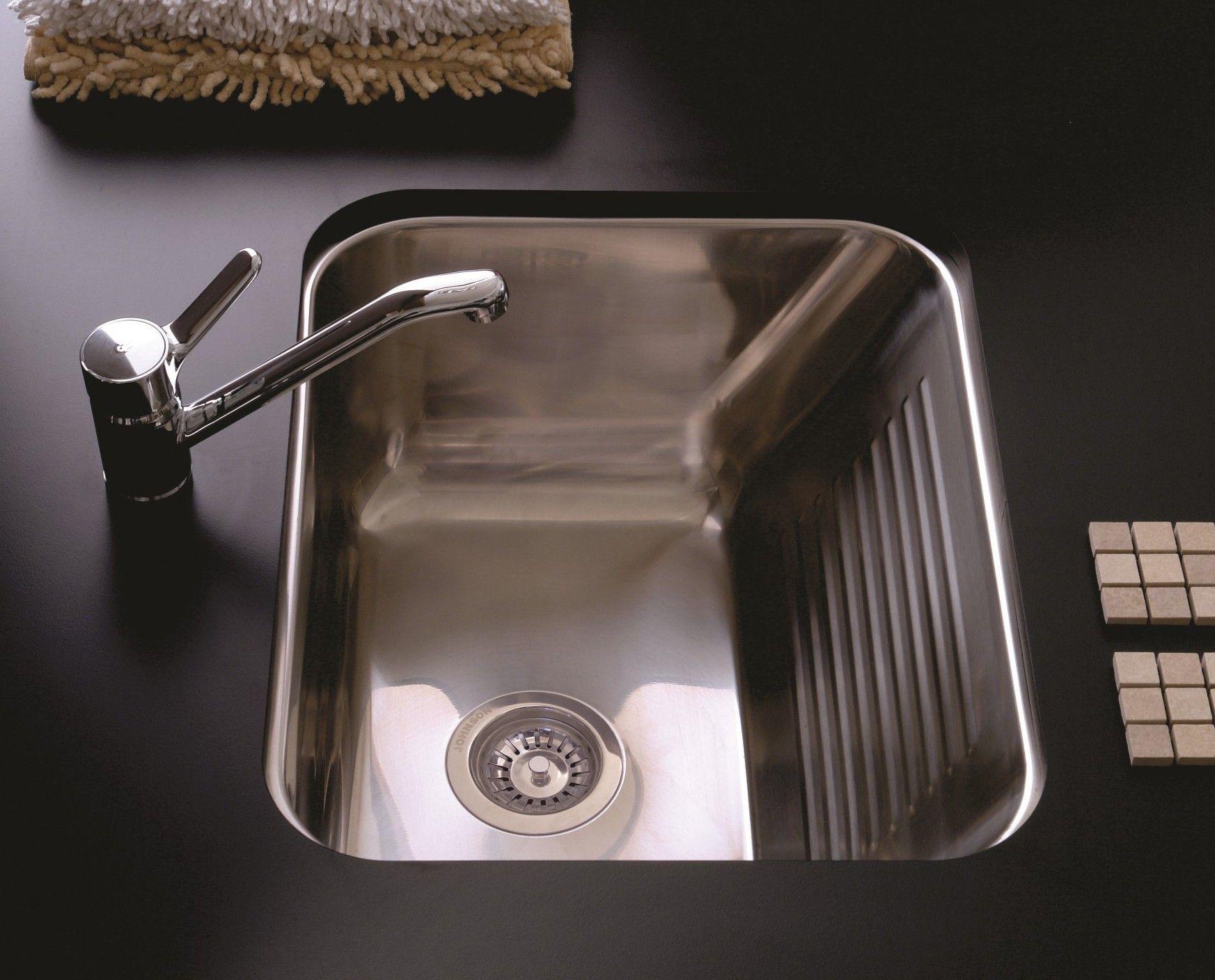 Pileta de lavadero con fregadero johnson acero ln50 for Lavadero porcelana