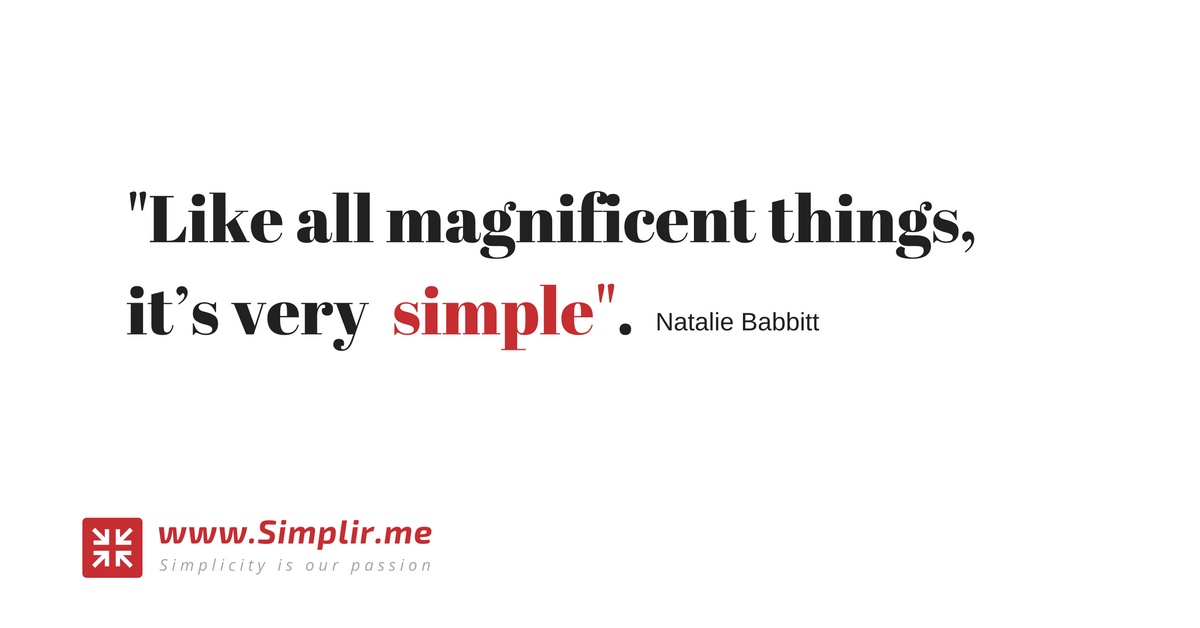 #Simplify your life, one idea at a time.  Simplir brings you daily inspiration to simplify your life by aggregating daily content from the best sources about minimalism and simple living.