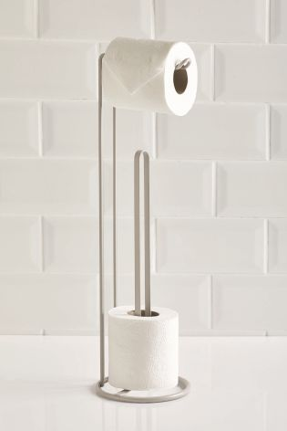 Buy Grey Toilet Roll Stand And Store From The Next Uk Online Shop Toilet Paper Holder Stand Toilet Paper Stand Grey Toilet Standing toilet roll holder
