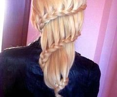 full head same side lace braid mixed with carousel--GOING to do this one!!!