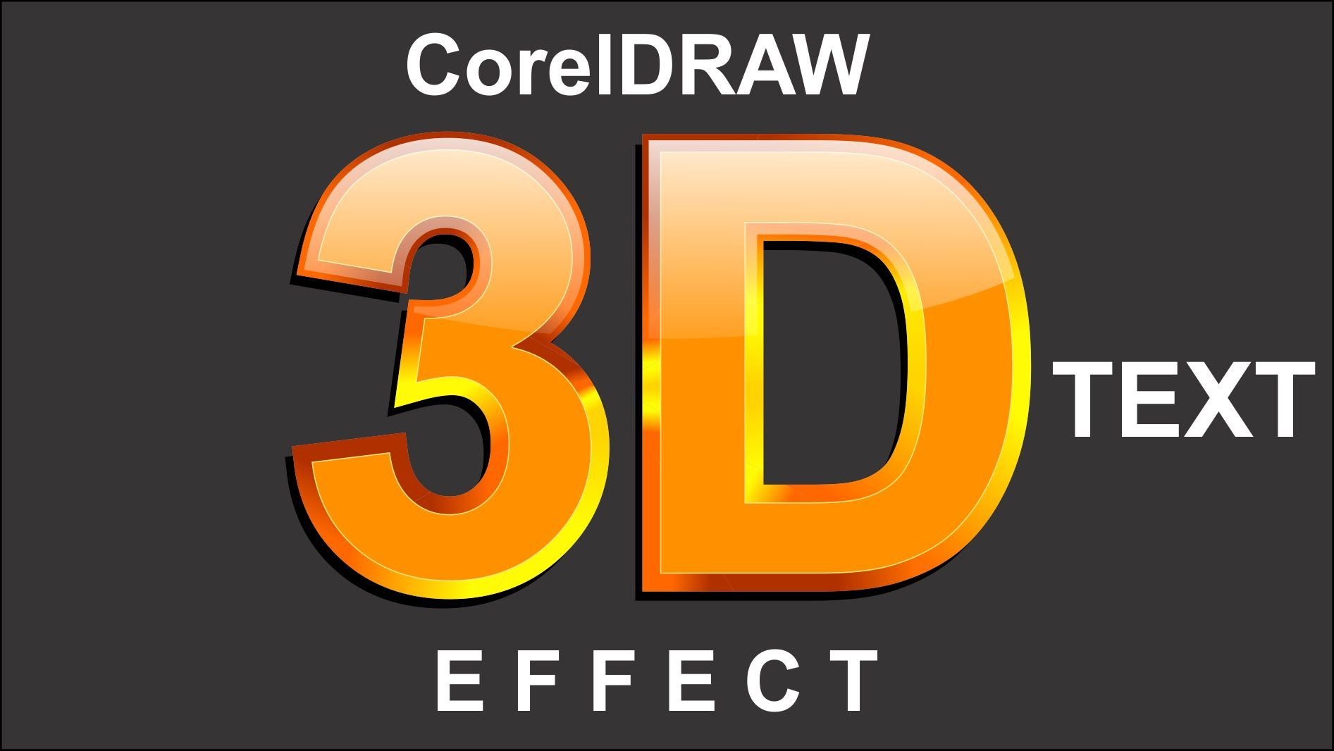 Coreldraw x8 3d text design effects corel draw font tutorial