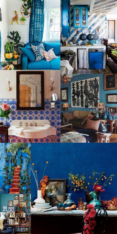 Beautiful Blue Bohemian Rooms Bohemian Living Rooms Bohemian Chic Living Room Vintage Living Room