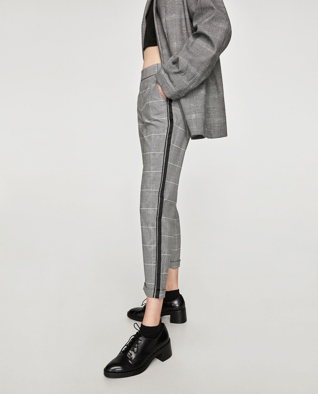 CHINO TROUSERS WITH SIDE STRIPE-View all-TROUSERS-WOMAN ...