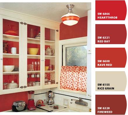 Detalles de rojo para una cocina hogar pinterest - Cocinas en rojo ...
