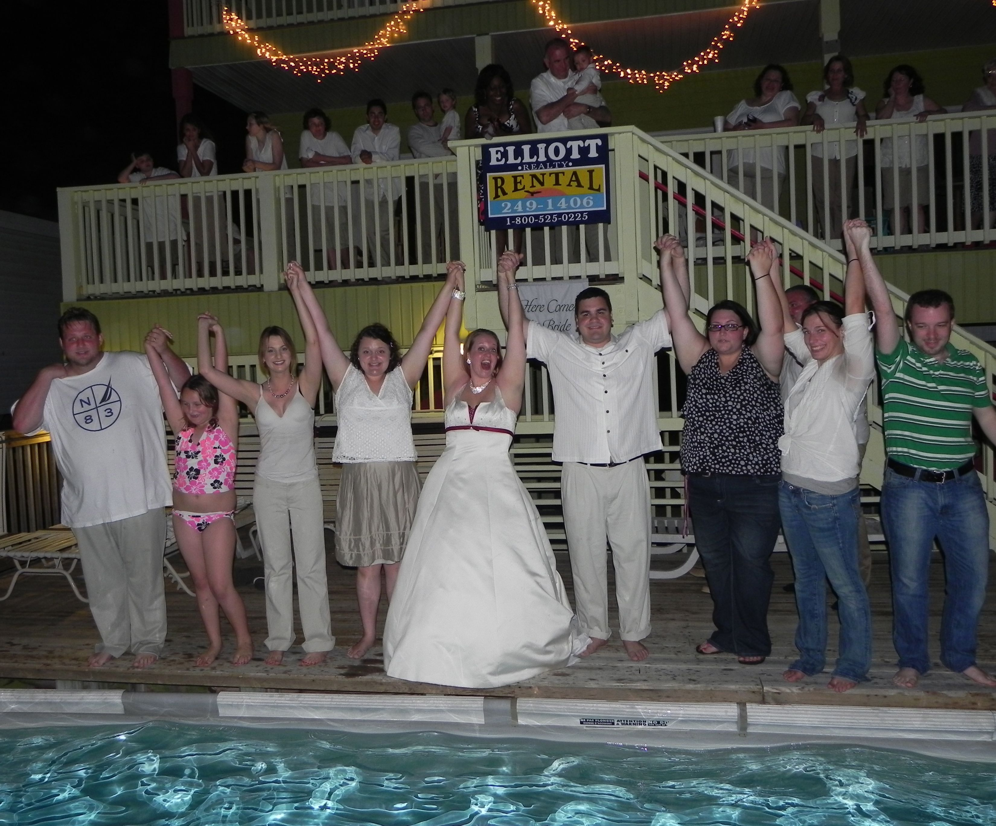 Jump Into The Pool At The End Of The Wedding Reception