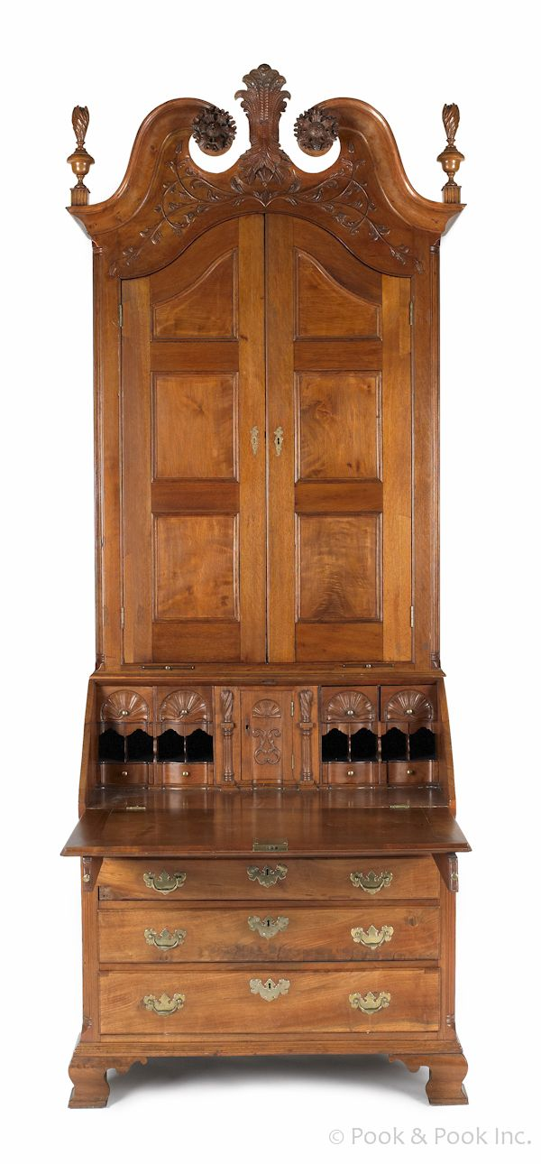 Chippendale Carved Walnut Desk, Furniture Makers In Lancaster Pa
