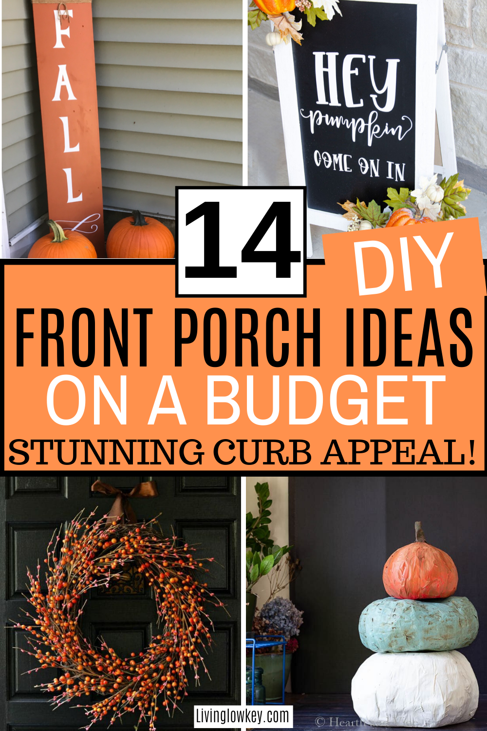 14 Inexpensive Front Porch Decor Ideas You Need To Try This Fall Front Porch Decorating Money Saving Plan Saving Money Quotes