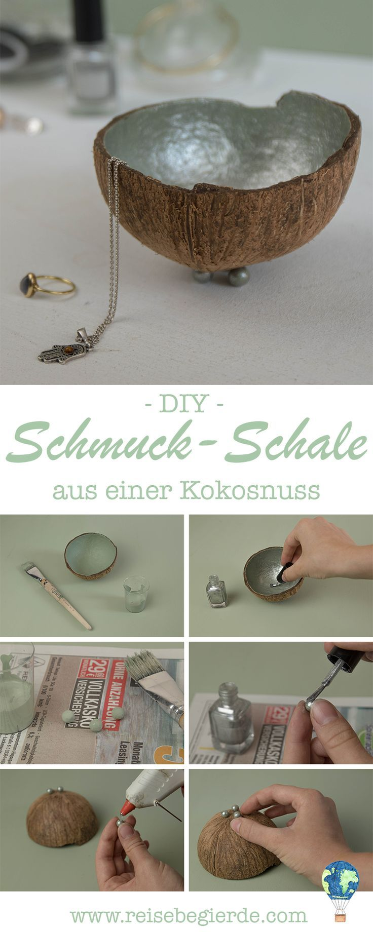 diy anleitung schale aus einer kokosnuss ganz einfach selber machen kokosnuss upcycling als. Black Bedroom Furniture Sets. Home Design Ideas