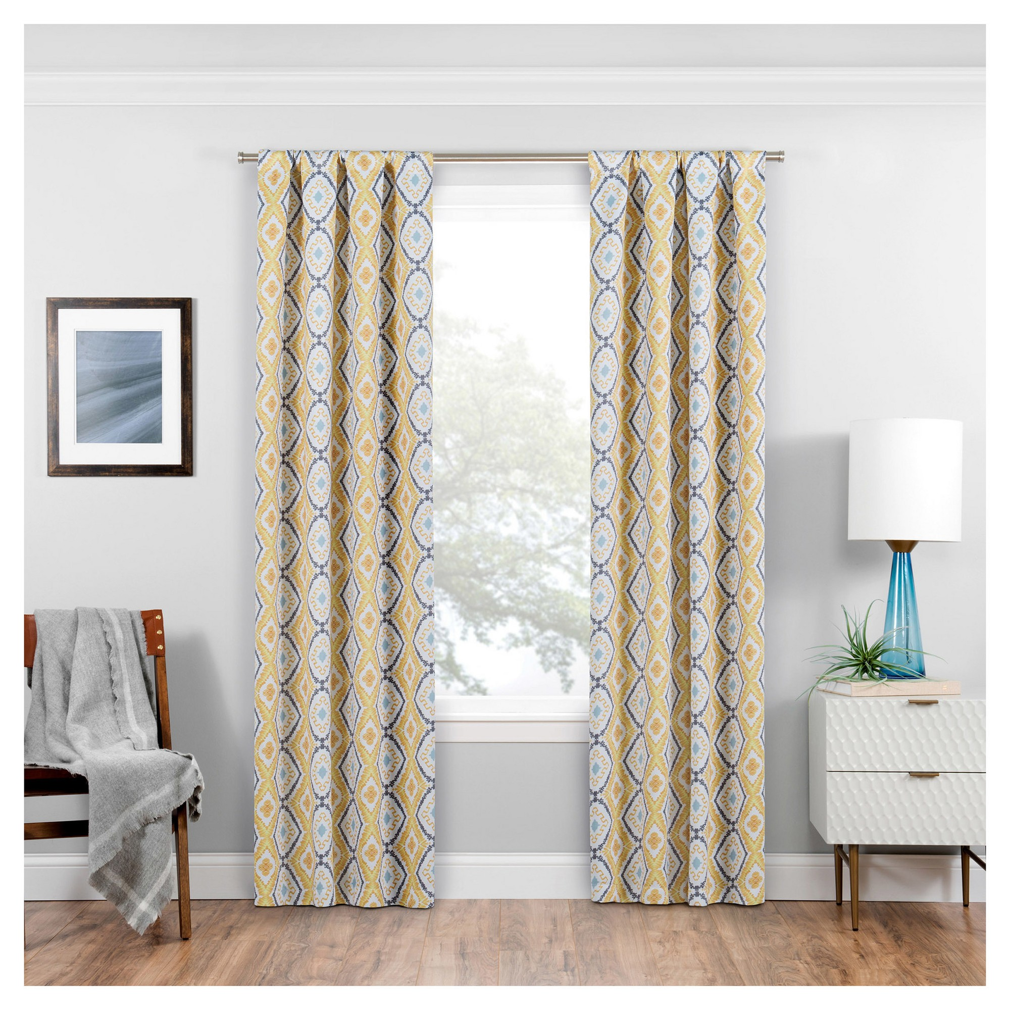 panel pack in blackout grommet yg l blk gld triple weave drapes black curtain gold curtains p