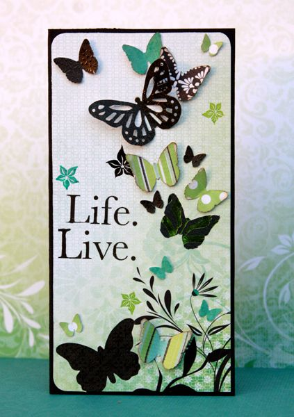 bold fresh butterfly card...love the color combo