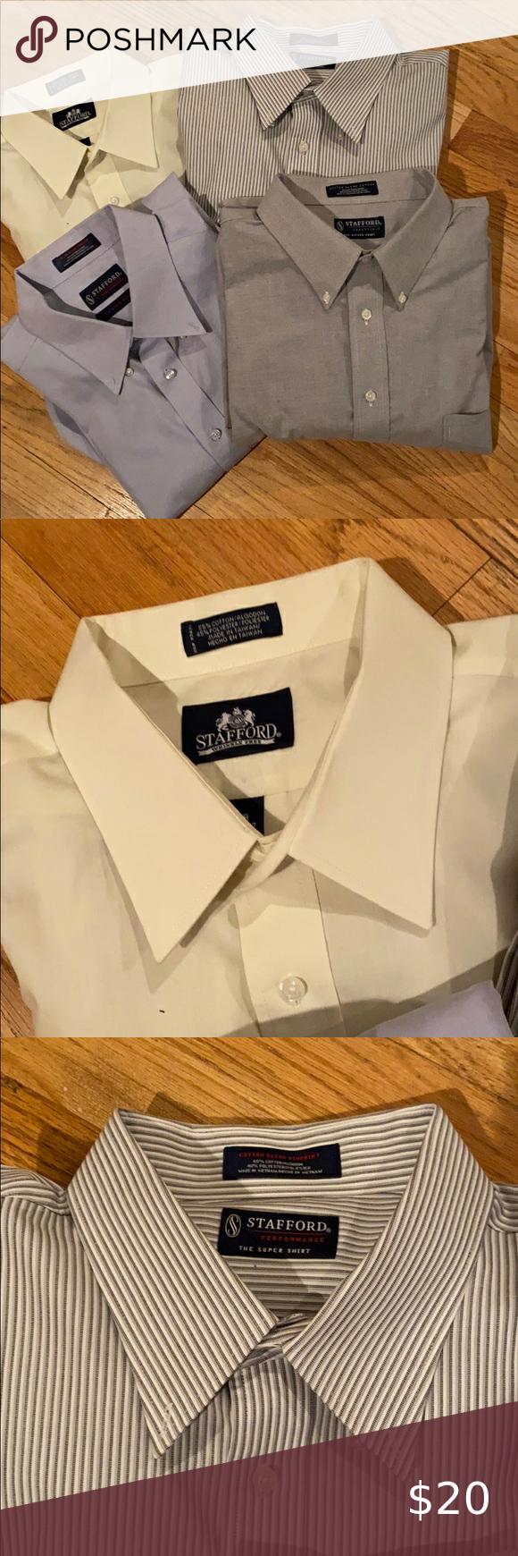 Stafford Men S Long Sleeve Shirts In 2020 Long Sleeve Shirts Short Sleeve Linen Shirt Long Sleeve Shirt Men [ 1740 x 580 Pixel ]