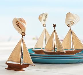 Sailboat Place Card Holder, Set of 4 #Pottery Barn