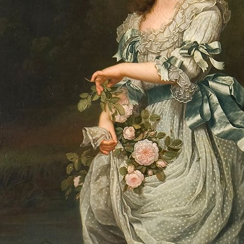 Detail from a portrait of Marie Antoinette and her children by Adolf Ulrik Wertmüller. 1785.