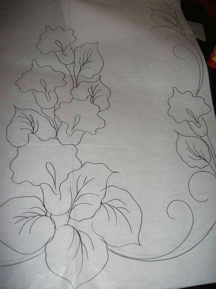Flores Para Copiar Y Bordar Bordado Pinterest Fabric Painting