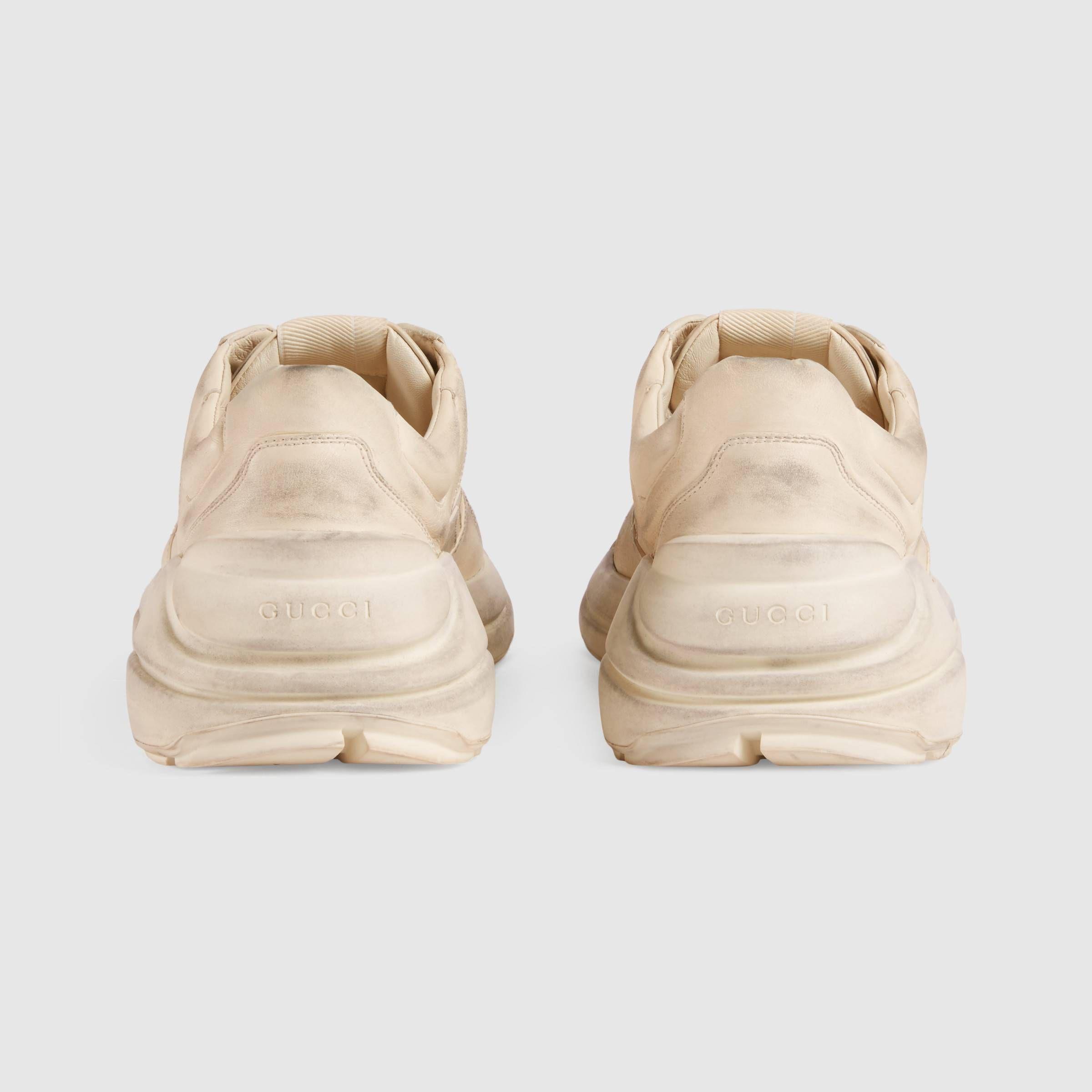 d0d61bb593d Gucci Rhyton leather sneaker Detail 4