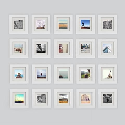 16-Pack, White, 6x6 Photo Frame (4x4 Matted) | Pinterest | 4x4 and ...