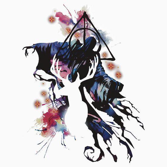Dementor and Deer Patronus Tattoo Design