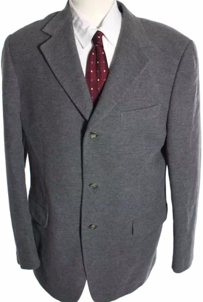 84b3cc3204 Ermenegildo Zegna Soft Angora Cashgora Wool Suit Blazer Sport Jacket ...