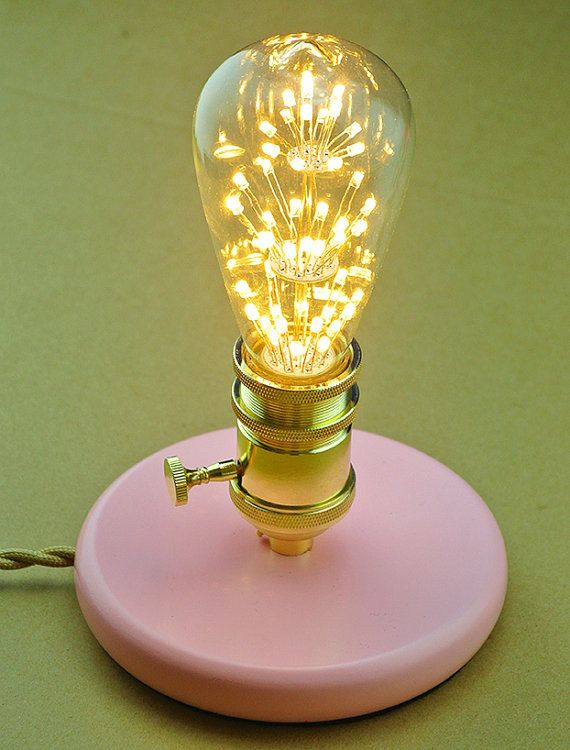 Vip Table Lamp Ii Pink Lady Wooden Base Vintage Wire Special Valentine S Gift Gold Socket Fireworks Led Bulb Industrial Edison Lamp Table Lamp Pink Ladies