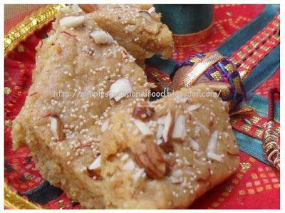 simply.food: Gujarati Badam Pak- Almond fudge