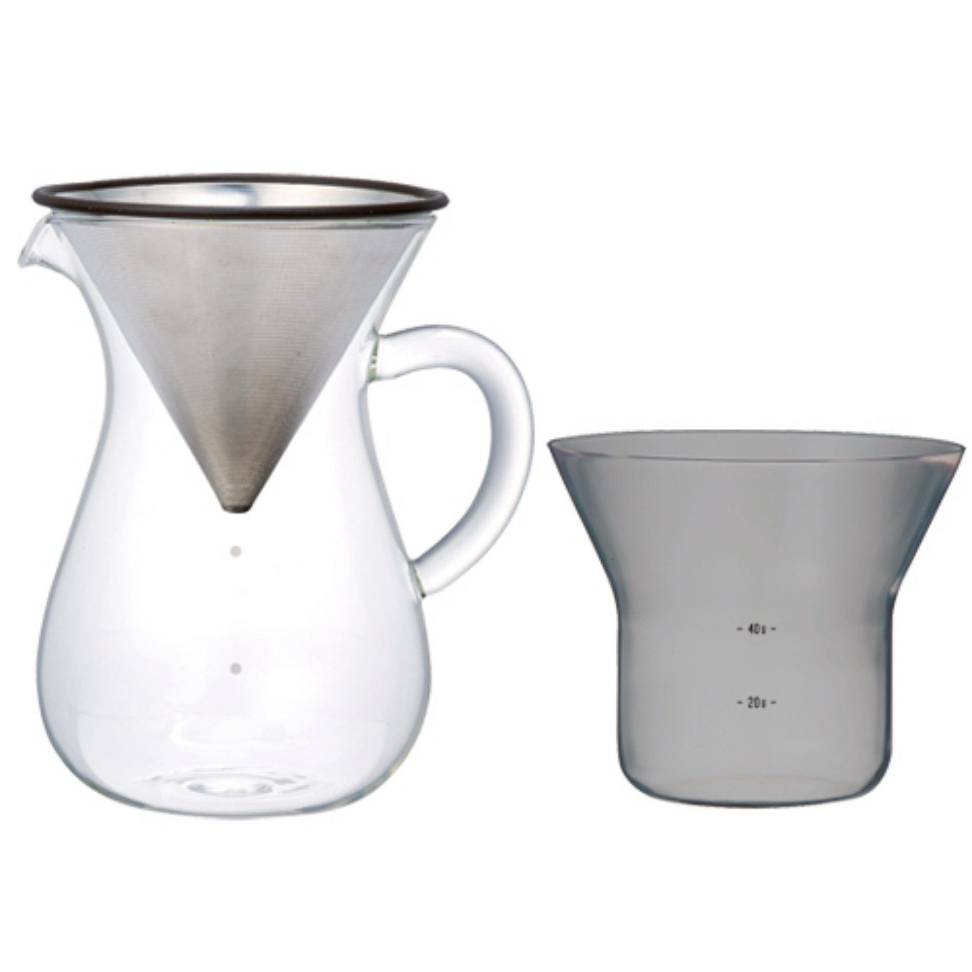 Kaffeefilter Edelstahl kinto coffee style kaffeekaraffe set mit kaffeefilter