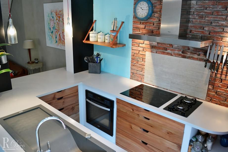 1000 images about cuisine ouverte on pinterest industrial dining chairs small kitchens and islands - Cuisine Petite Surface