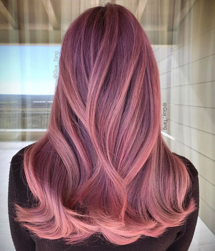 Blonde Base With Gold Rose Gold And Pastel Pink Tones Blorange Hair Hair Inspiration Color Hair Styles