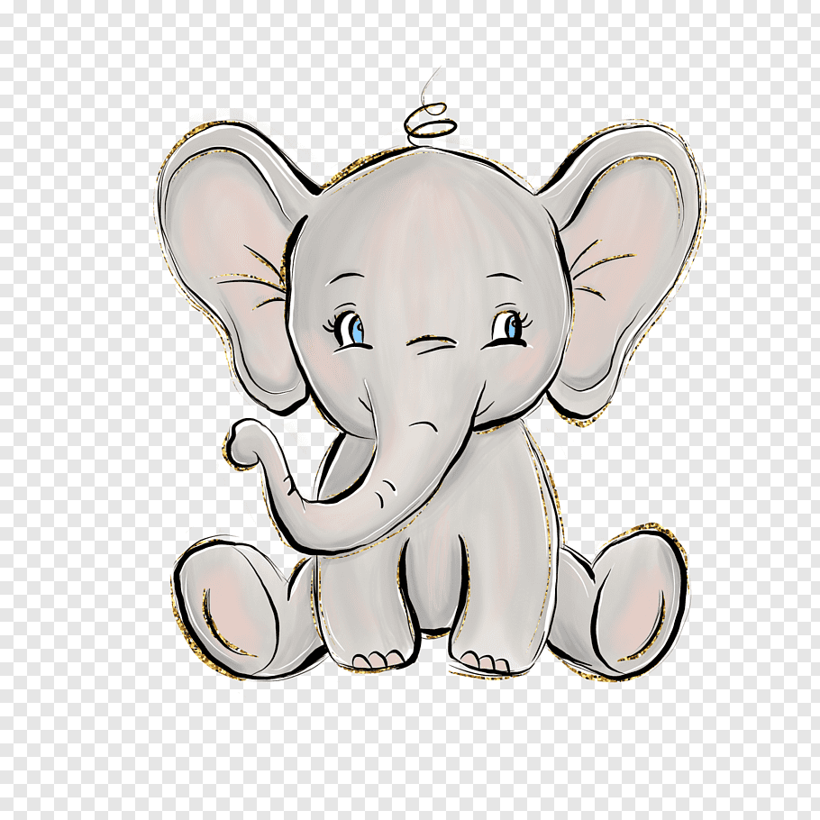 Cute Baby Cartoon Elephant Wallpaper