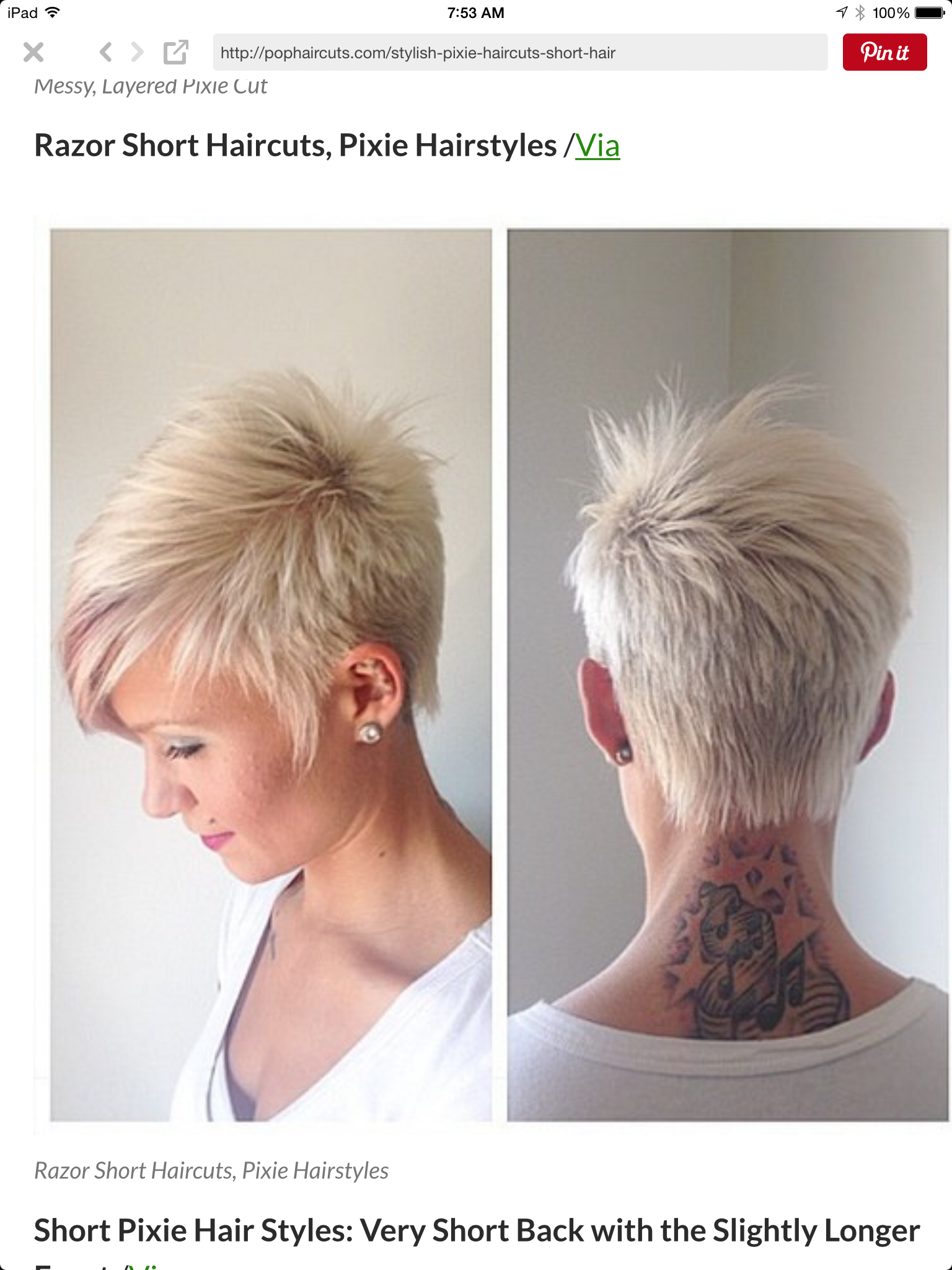 The Back Is A Little Bit Too Short Otherwise Perfect Pixie