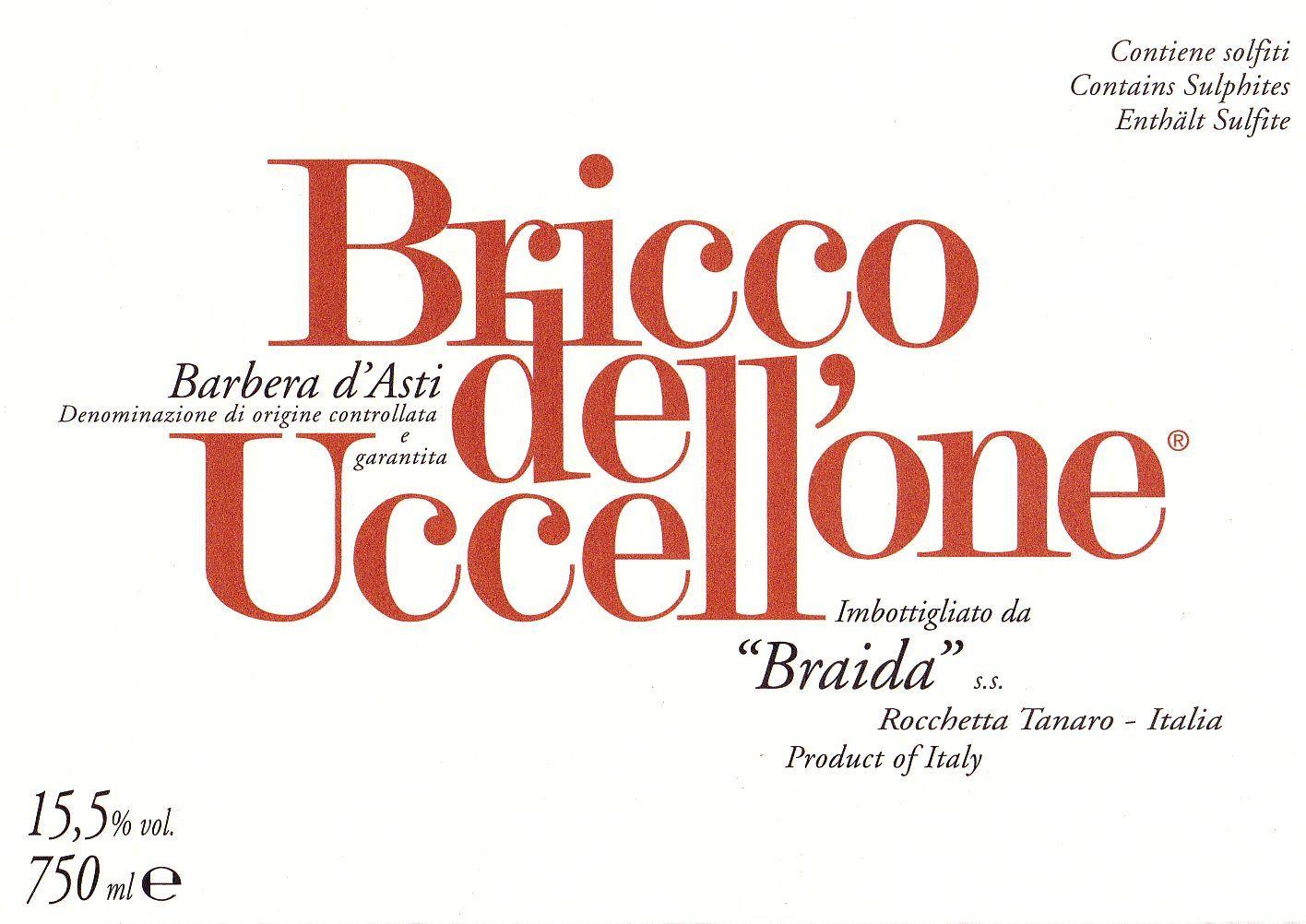 Barbera D Asti Bricco Dell Uccellone 1996 Vini Piemontesi Online Vino Piemontese Vino