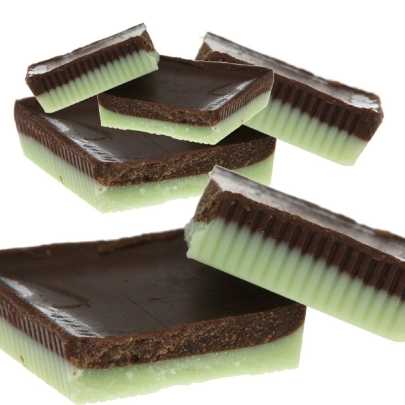 A recipe for an easy to make Layered Mint Chocolate Candy ...