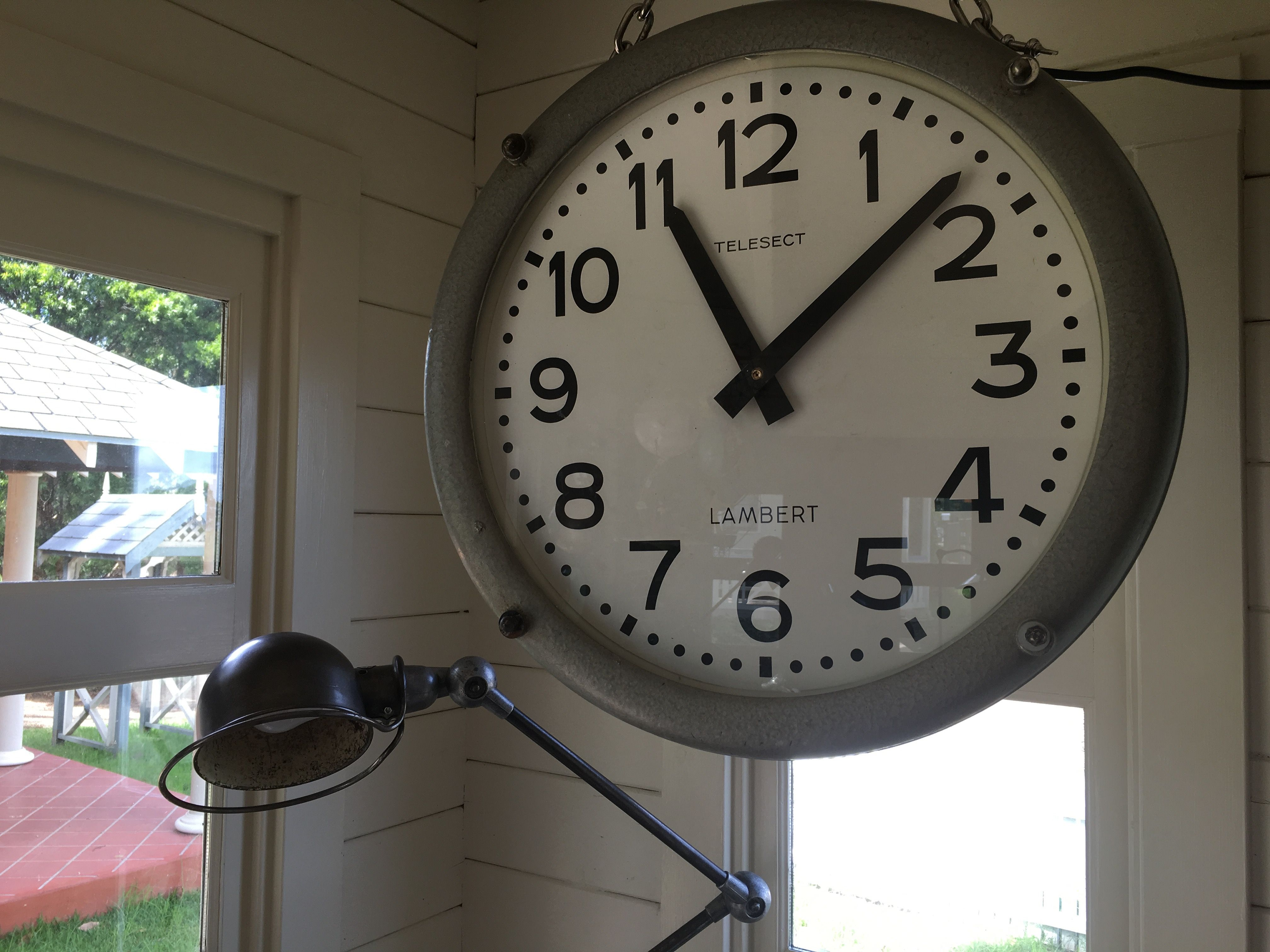 double sided ato vintage railway clock