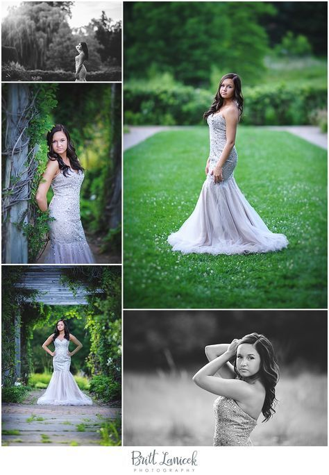 Prom Dress Senior Pictures at the Toledo Botanical Garden by Britt Lanicek Photography #promphotographyposes