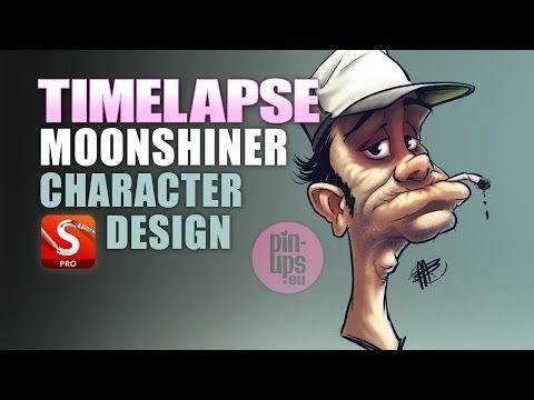 Autodesk Sketchbook Pro Moonshiner Character Design Sketch