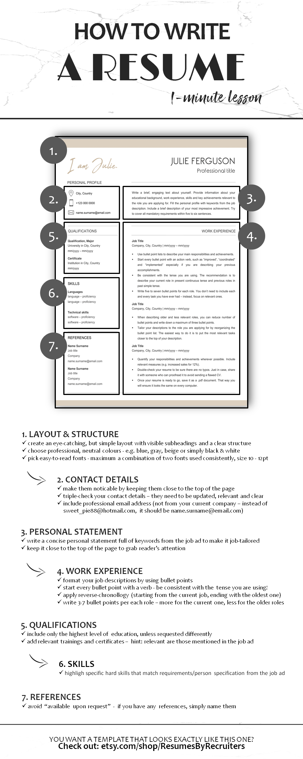 Creative Resume Template Word / Instant Download / Social