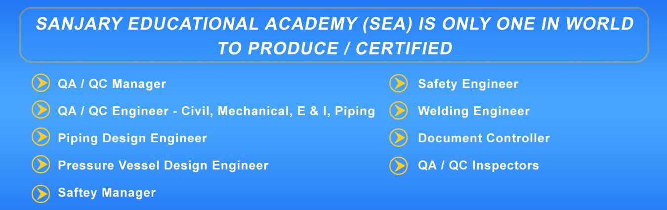 Sanjary Education Academy provides various certified qa qc courses - document controller