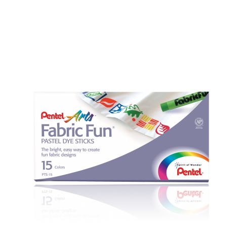 Pentel Fabric Fun 174 Pastel Dye Sticks Draw On Fabric Set