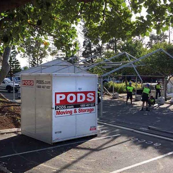 Temporary storage pods