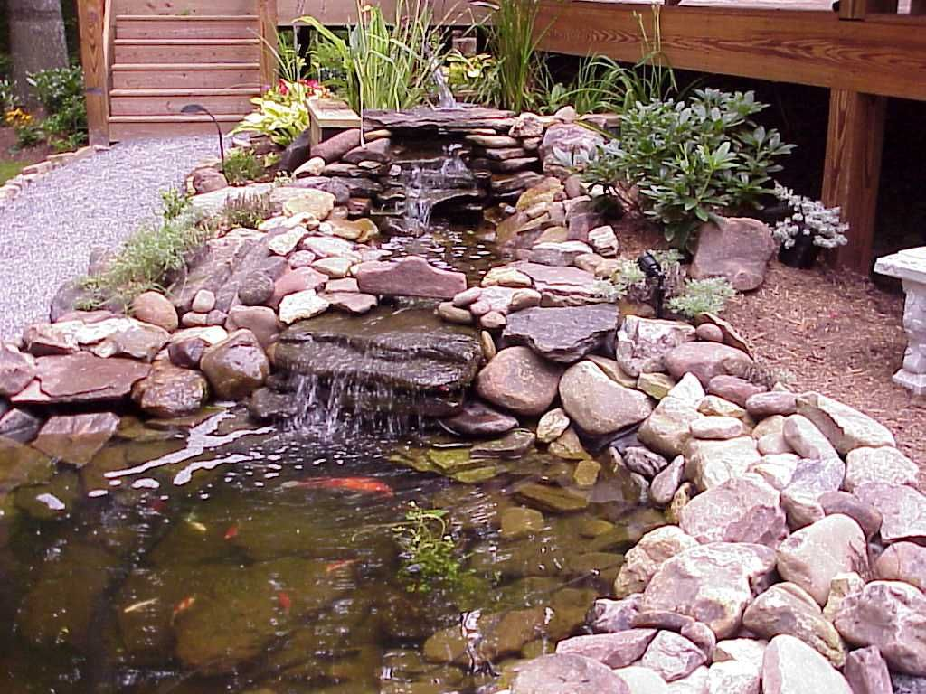 landscaping waterfalls and fish ponds ponds ideas with