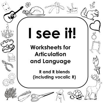 Coloring Worksheets For Articulation Of Vocalic R And R Blends I
